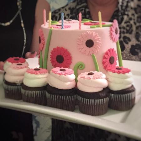 Green Brook, NJ: Lemon raspberry birthday cake and chocolate cupcakes