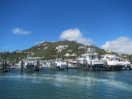 Oyster Pond, St-Martin/St Maarten : the view leaving the port