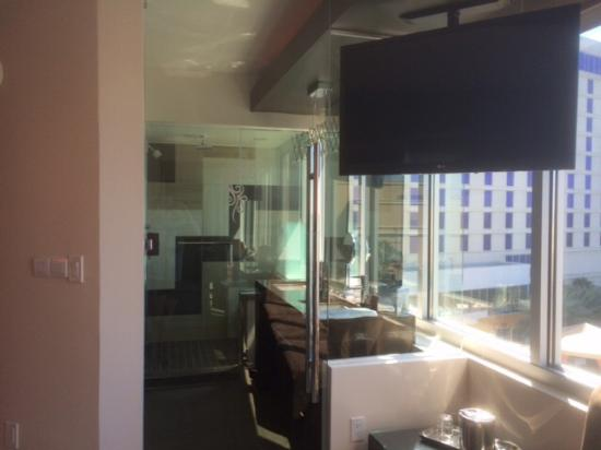 huge glass door leads into bathroom so cool awesome view from all rh tripadvisor co za
