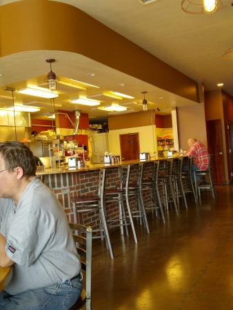 Counter seats. Watch your food being made!