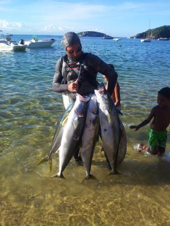 O Pescador: O grande Joe com a sua caça.
