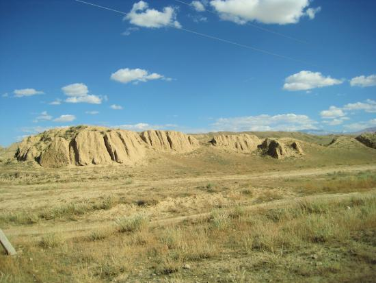 Naryn Province, Kyrgyzstan: the ruined walls