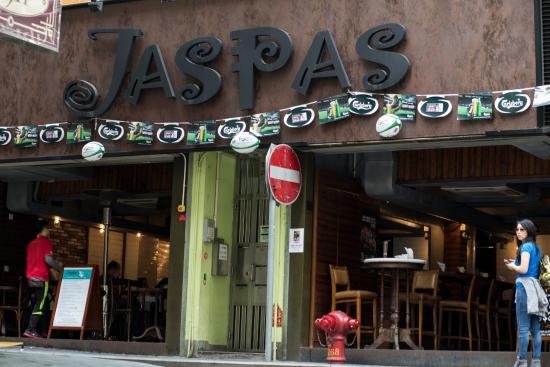 Jaspas from across the street