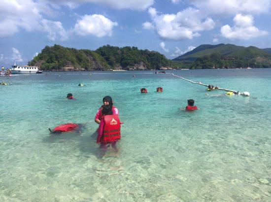 Redang Marine Park Centre: snorkeling at the beach