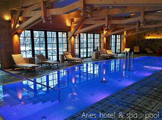 Hotel indoor swimming pool