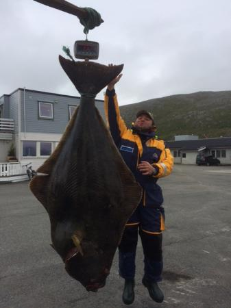 Vannareid, Noruega: Halibut sized approx. 110 kg.