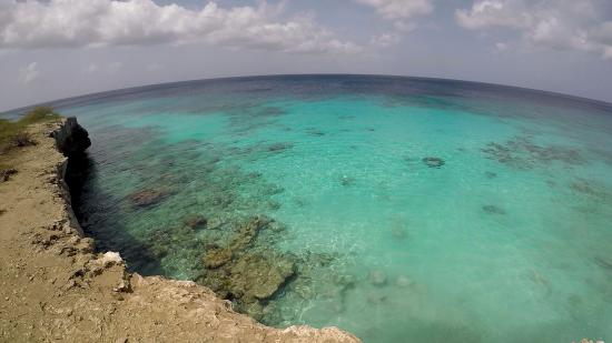 Washington-Slagbaai Nationalpark, Bonaire: grappige ronde foto met go-pro-camera in N.P.