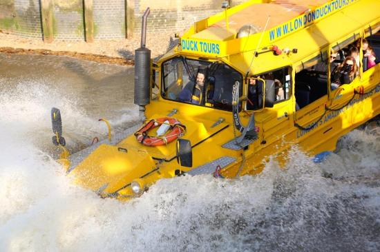 Splashdown!  London Duck Tours style