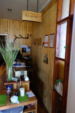 Lafquen Antu : The smallest reception desk.