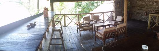 Bridge Camp: Top floor of the restaurant sections, good view, nice and breezy. The Luangwa Valley can get hot