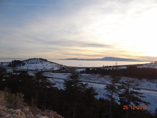 Corum Province, Turquia: Çalbaba Geçidi (Sis Bulutlarının Üstü) - Çorum
