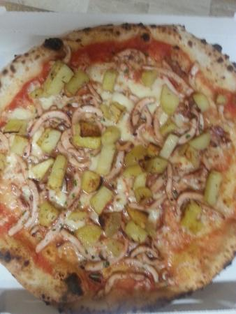 Fior di pizza: patate arrosto e calamari arrosto