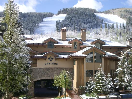 Antlers at Vail is located on Gore Creek facing Vail Mountain