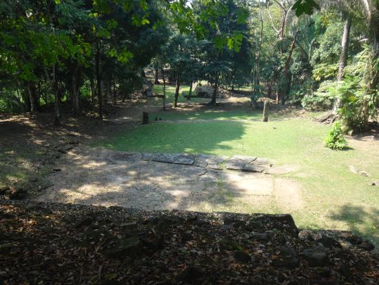 Toledo District, Belize: View down to the ballcourt