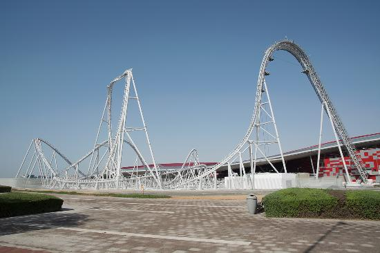 ferrari world roller coaster ferrari world abu dhabi flying aces. Cars Review. Best American Auto & Cars Review