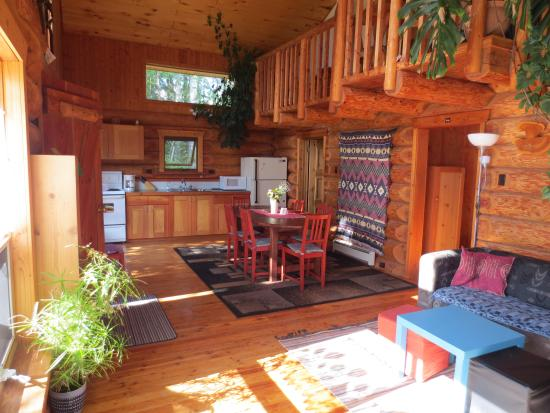 Blaeberry Mountain Lodge: Log Lodge inside