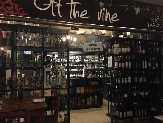 Off The Vine : Wine & more store inside restaurant.