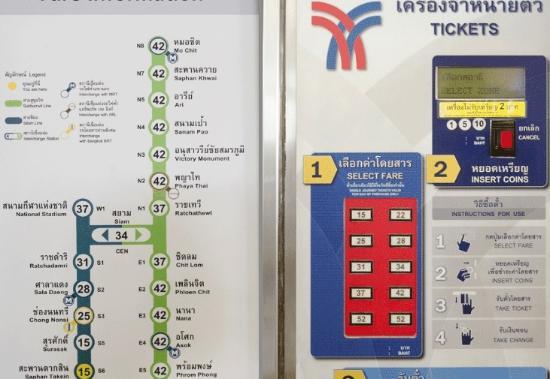 Image result for skytrain price machine bangkok