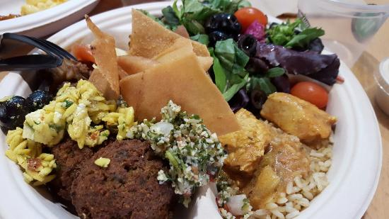 Port Saint Lucie, FL: Greek inspired Hot buffet selection
