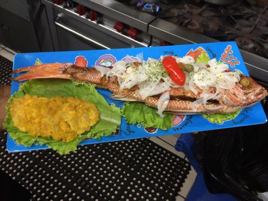 Mofongo y caldo de pescado picture of el gatito cabo for Comida buena