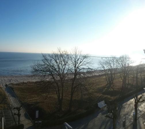 Hotel Am Meer: Blick vom Balkon aus