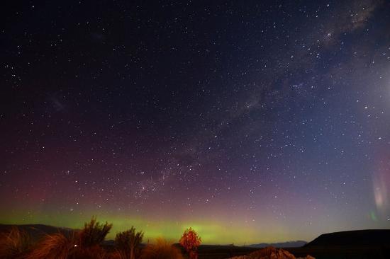 Twizel, نيوزيلندا: Aurora Australis from Matuka Lodge