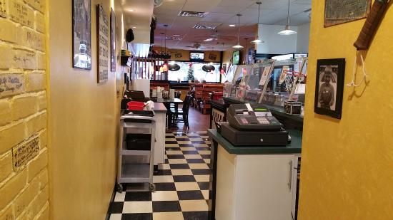 Tecumseh, MI: Looking Past the Counter to the Dining Area at the Dog House Restaurant