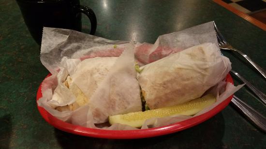 Tecumseh, MI: My BBQ Chicken Wrap at the Dog House Restaurant
