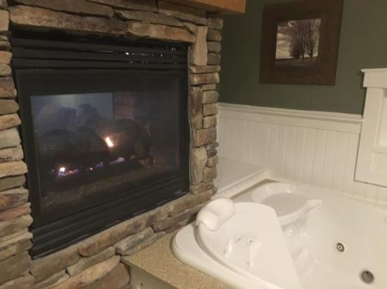 the fireplace was double sided and i love the jacuzzi picture of rh tripadvisor com