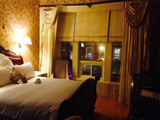 Oscar Wilde Room overlooking Barrington Street at the Waverley Inn