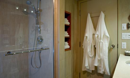 Hotel Castel & Spa Confort: Salle de bain des chambres à deux lits