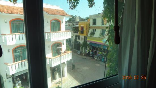 Hotel Delfin: Vista do meu quarto!