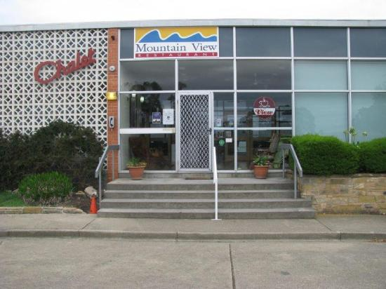 Poatina, Australië: Front entrance of the Chalet