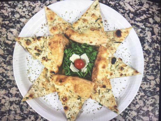 Porcini Pizzeria Fulham: Pizza garlic bread with mozzarella cheese