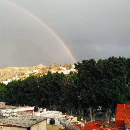 Adelita Language School: A Guanajuato rainbow on my last day of school (taken from the 2nd floor veranda)