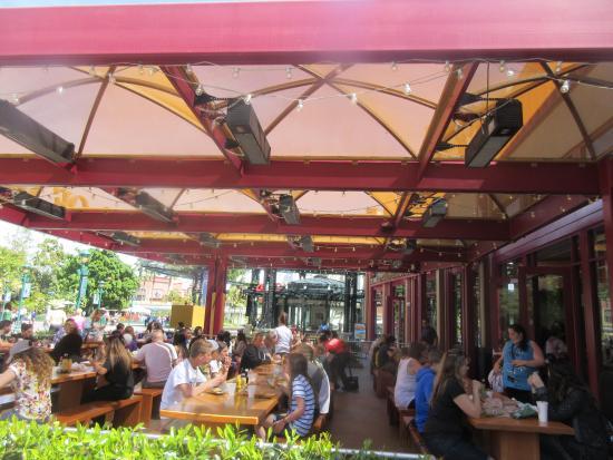 Earl Of Sandwich Patio Seating, Downtown Disney, Anaheim, CA