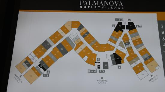 map 2 - Picture of Palmanova Outlet Village, Aiello del Friuli ...