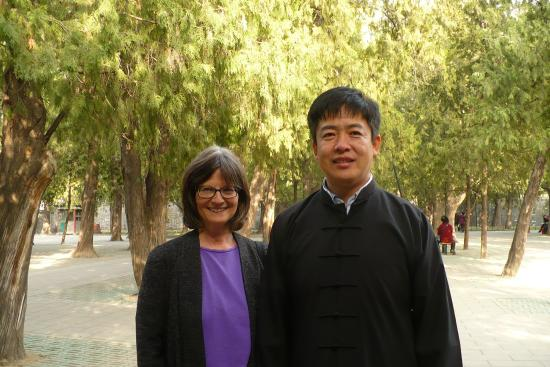 Tai chi instructor Eric Liu and a San Francisco Bay area