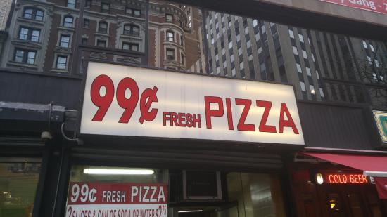 99 Cents Fresh Pizza Outside