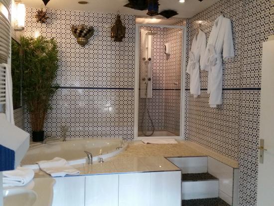 Salle de bains de la suite Egypte - Photo de Brussels Welcome Hotel ...