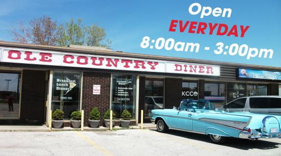 Ole Country Diner: Open Everyday of the Year