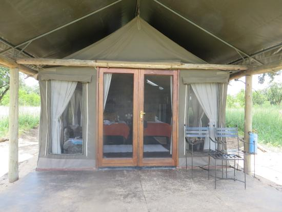 Wilderness Safaris Davison's Camp: This is the type of accommodation at Davison's, very comfortable
