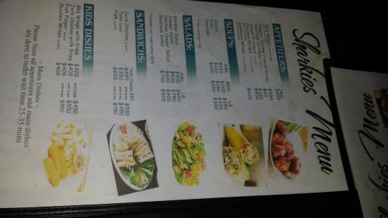 Sharkies Seafood Restaurant: Menu 2