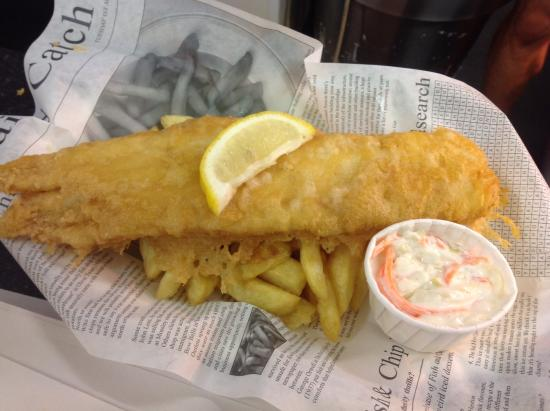 fish and chips in our light crisp batter - picture of charmouth, Reel Combo