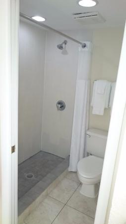 Shower toilet area