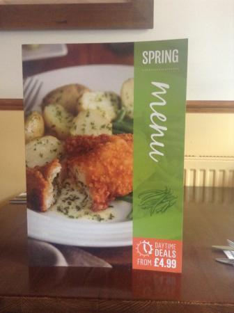 Wakefield Arms: Spring menu
