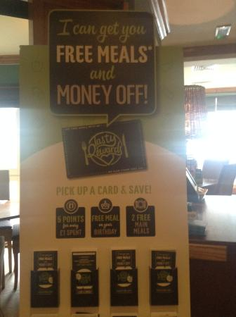 Wakefield Arms: Grab a tasty reward card on your next visit