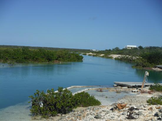 Long Bay Beach, Providenciales: Nearby canal