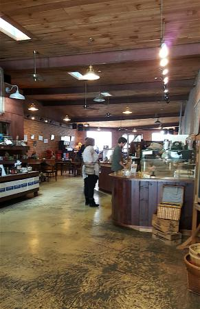 The large warehouse-style sapce at Panacea in Waynesville, NC, is welcoming.