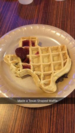 Residence Inn Houston by The Galleria: Texas shaped Waffles